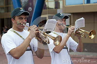 Trumpeters Editorial Photo