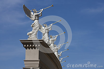 Trumpeting Angel Statues Seem to be making a Heavenly announcement