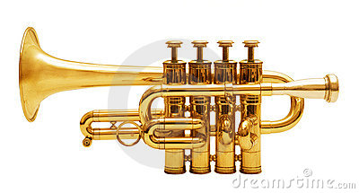 Trumpets isolated on white