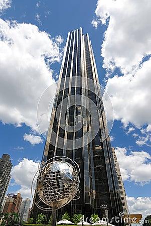 Trumpf-internationales Hotel und Kontrollturm Redaktionelles Stockfotografie