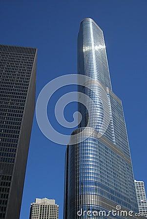 Trumpf-Kontrollturm - Chicago Redaktionelles Stockfotografie