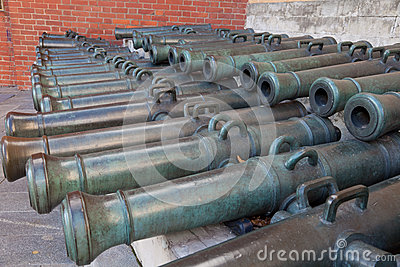 Trunks of old cannons