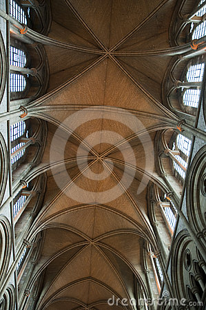 Truro Catherdral vaulted ceiling