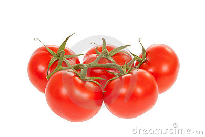 Trusse Tomatoes with clipping path