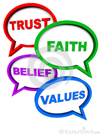 Trust faith belief values