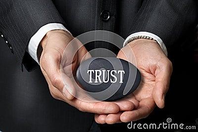 Trust Hands Business Ethics