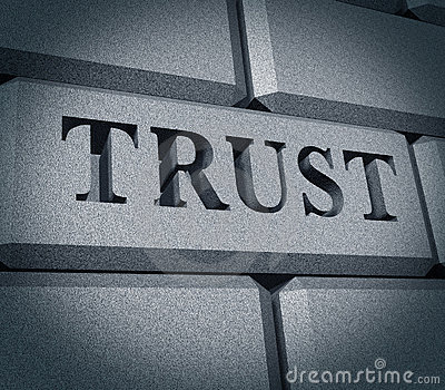 Trust honor financial business symbol integrity de
