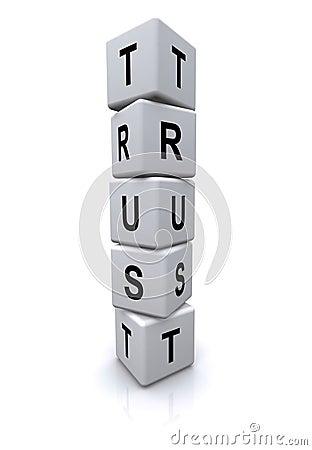 Trust letter cubes