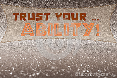 Trust your ability word Stock Photo
