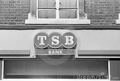 Trustee Savings Bank signage Editorial Stock Photo