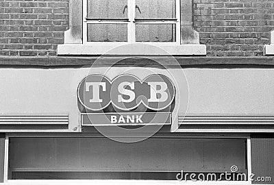 Trustee Savings Bank signage Editorial Stock Photo