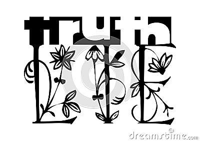 Truth Lie Concept