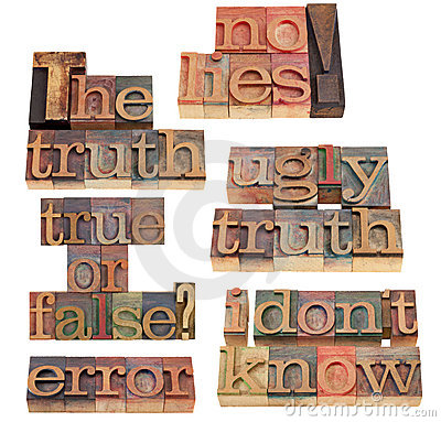 Truth And Lies Word Collage