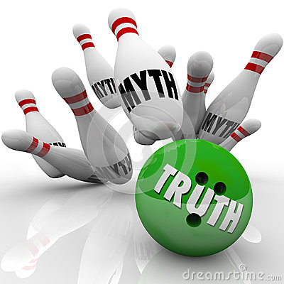 Free Truth Vs Myth Bowling Facts Investigating Busting Untruth Stock Images - 35557014
