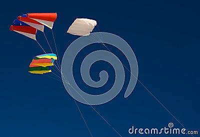 Trzy latawców