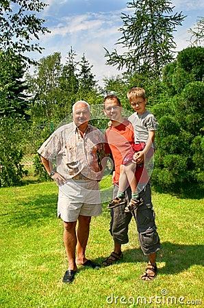 Trzy pokolenia rodziny