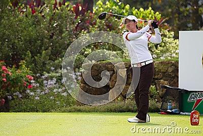 Tés d amateur de carter d Aretha hors fonction à LPGA Malaisie Photo stock éditorial