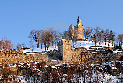 Tsarevets Stronghold In The Winter Stock Photo - Image: 22939070