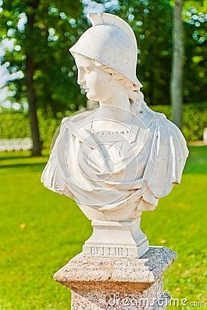 Tsarskoye Selo. Catherine Park. Bust Bellum
