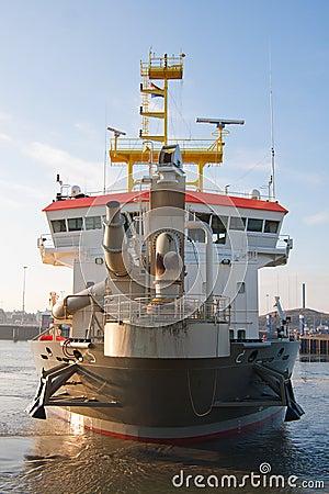 TSHD Shoreway at Scheveningen