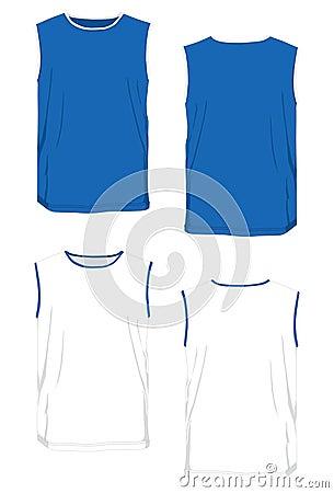 Tshirt bicolor model no-sleeve.