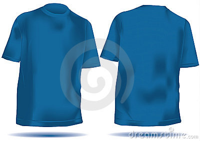 Tshirt  with mesh front and back in blue