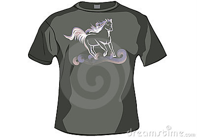 TShirt ,shirt front with horse