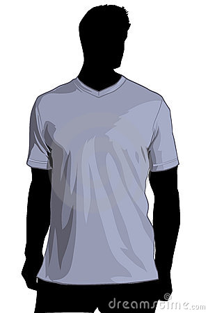 TShirt temlate with V-neck