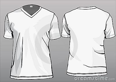 TShirt Template With V Neck Vector Illustration