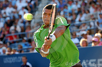 Tsonga Jo-Wilfried at US Open 2008 (21) Editorial Photography