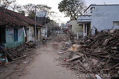 Tsunami Destruction Editorial Stock Photo
