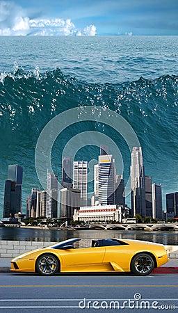 Tsunami in the Pacific