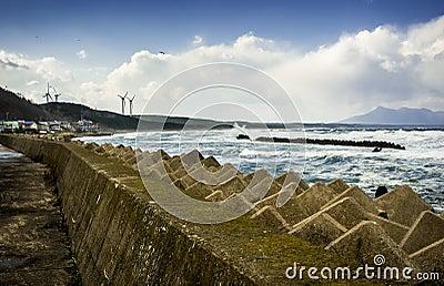 Tsunami storm barrier