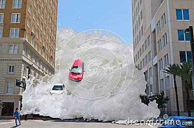 Tsunami Tidal Wave Stock Photography - Image: 9488732