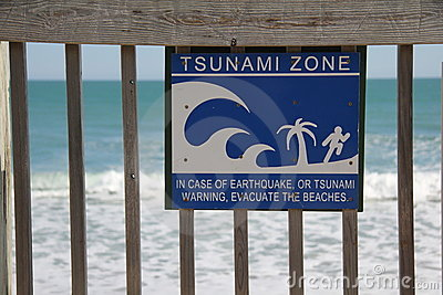 Tsunami Zone Sign