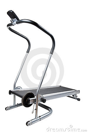 Tät treadmill upp white