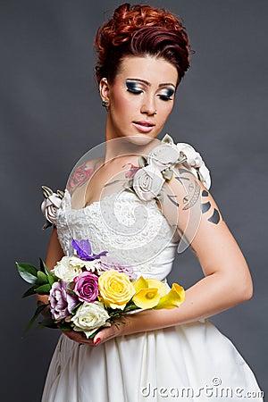 Tätowierte Braut