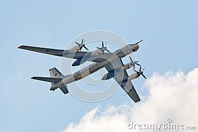 Tu-95 strategic bomber Editorial Photo