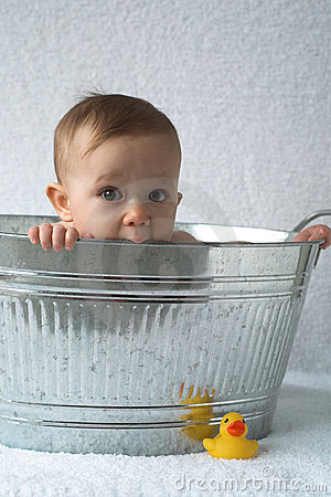 Free Tub Baby Stock Photography - 1919352