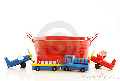 Tub and toys
