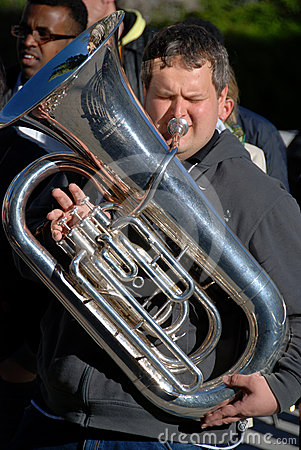 Tuba player Editorial Image