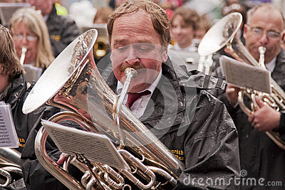 The Tuba Player Editorial Stock Photo