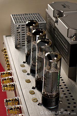 Tube amplifier closeup