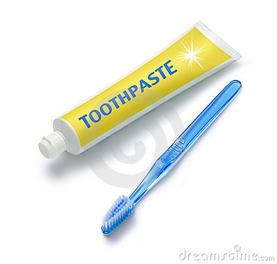 Tube of Toothpaste And Toothbrush