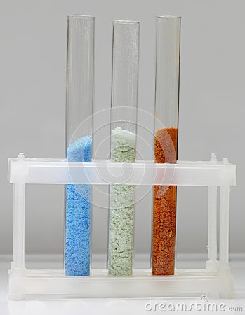 Tubes with various crystals