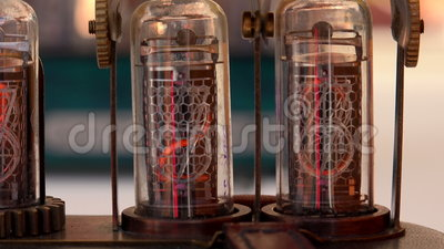 Tubo a vuoto, numeri 4K stock footage