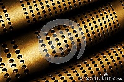 Tubos perforados del metal