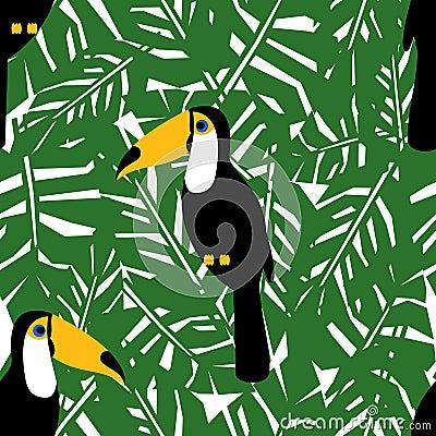 modello senza cuciture delle foglie di palma tropicali