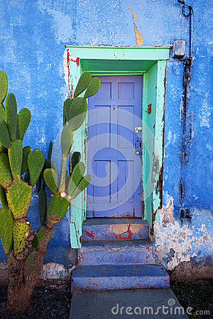 Free Tucson House Door Royalty Free Stock Images - 26188729