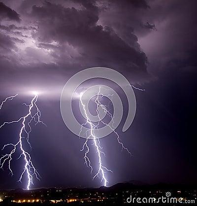Tucson Mountain Lightning